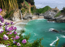 McWay Falls at Julia Pfeiffer State Park beach.