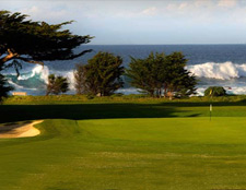 The beautiful golf course in Pacific Grove California.