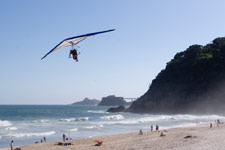 Hang gliding near the Monterey Bay.