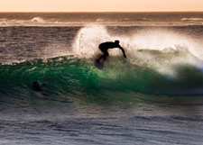 Surfing around the Monterey Bay.