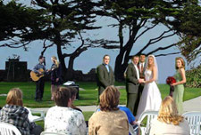 Pacific Grove Wedding at romantic Lover's Point.